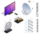 vector tv antenna  realistic... | Shutterstock .eps vector #1175838028