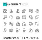 outline icons about ecommerce.... | Shutterstock .eps vector #1175840518