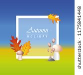 autumn holiday background...   Shutterstock .eps vector #1175841448
