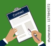 vector image of contract form.... | Shutterstock .eps vector #1175843572