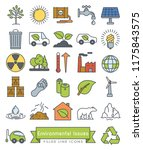 collection of environment and... | Shutterstock .eps vector #1175843575