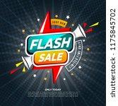 flash sale banner template... | Shutterstock .eps vector #1175845702