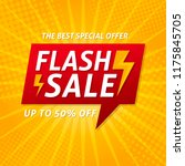flash sale banner template... | Shutterstock .eps vector #1175845705