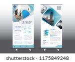 rollup template vector... | Shutterstock .eps vector #1175849248