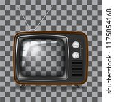 empty retro tv frame with... | Shutterstock .eps vector #1175854168