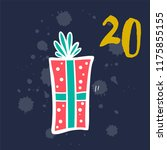 christmas advent calendar with... | Shutterstock .eps vector #1175855155