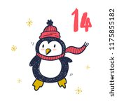 christmas advent calendar hand... | Shutterstock .eps vector #1175855182