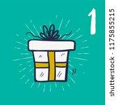 christmas advent calendar with... | Shutterstock .eps vector #1175855215