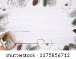 christmas composition. top view ... | Shutterstock . vector #1175856712