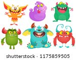 cartoon monsters collection.... | Shutterstock .eps vector #1175859505