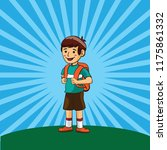 boy students illustration with... | Shutterstock .eps vector #1175861332
