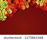 autumn paper background ... | Shutterstock .eps vector #1175861368
