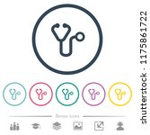 stethoscope flat color icons in ... | Shutterstock .eps vector #1175861722