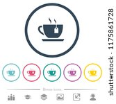 cup of tea with teabag flat... | Shutterstock .eps vector #1175861728