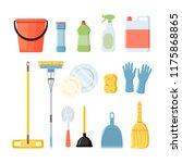 set of household cleaning... | Shutterstock .eps vector #1175868865