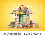 construction concept. building... | Shutterstock . vector #1175870245