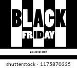 black friday sale banner on...   Shutterstock .eps vector #1175870335