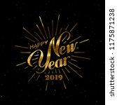 happy 2019 new year. holiday... | Shutterstock .eps vector #1175871238