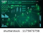 data analysis  visualization... | Shutterstock .eps vector #1175873758