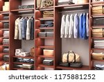 men's  wardrobe. 3d illustration | Shutterstock . vector #1175881252