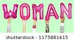 hands showing woman balloons... | Shutterstock . vector #1175881615