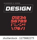 numbers and signs collection.... | Shutterstock .eps vector #1175882275