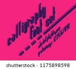 isometric 3d script font set | Shutterstock .eps vector #1175898598