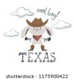 western bunny baby cute print.... | Shutterstock .eps vector #1175900422