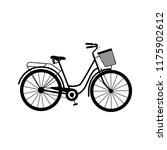 a bicycle  bike with a basket ... | Shutterstock .eps vector #1175902612