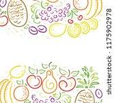 fruits. vector illustration | Shutterstock .eps vector #1175902978
