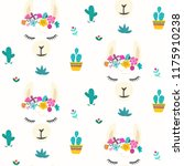 seamless pattern with cute... | Shutterstock .eps vector #1175910238