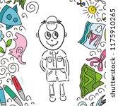 boy. vector illustration | Shutterstock .eps vector #1175910265