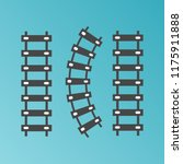 railroad train tracks vector.... | Shutterstock .eps vector #1175911888