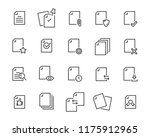 set of document icons  such as... | Shutterstock .eps vector #1175912965