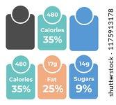 labels calories ingredient... | Shutterstock .eps vector #1175913178