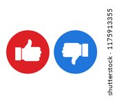 thumb up symbol  finger up icon ... | Shutterstock .eps vector #1175913355