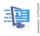 vector illustration icon with... | Shutterstock .eps vector #1175916355