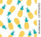 pineapple seamless pattern... | Shutterstock .eps vector #1175916592