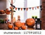 happy halloween. background in... | Shutterstock . vector #1175918512