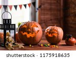 happy halloween. background in... | Shutterstock . vector #1175918635
