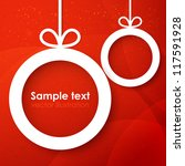 christmas applique background.... | Shutterstock .eps vector #117591928