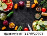 healthy food concept.... | Shutterstock . vector #1175920705