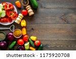 healthy food concept.... | Shutterstock . vector #1175920708