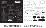 the large set of icons  arrows  ... | Shutterstock .eps vector #1175924872