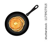 pancake isolated with butter... | Shutterstock .eps vector #1175927515