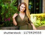 close up portrait of beautiful... | Shutterstock . vector #1175929555