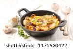roasted potato and garlic | Shutterstock . vector #1175930422