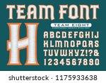 letter font for team logos.... | Shutterstock .eps vector #1175933638