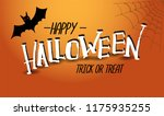 vector 'happy haloween'... | Shutterstock .eps vector #1175935255