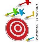 darts missing target  | Shutterstock .eps vector #1175939875
